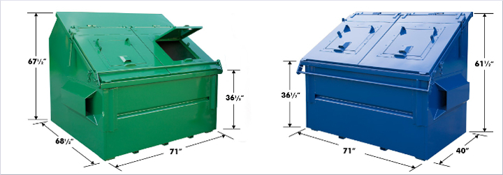 Animal Protected Front Load Dumpster Bin