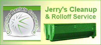 Jerry's Cleanup & Rolloff Service – Garbage containers, mini-bin, roll off bin rentals.